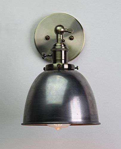 Permo 63Inch Metal Dome Shade Industrial Wall Sconce Lighting Fixture Varnish Finished ** You can get more details by clicking on the image. (Note:Amazon affiliate link)