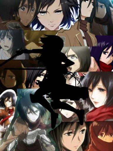 Collage Mikasa Ackerman Anime Mobile Hunter Anime Crazy Wallpaper Wallpaper iphone aesthetic mikasa
