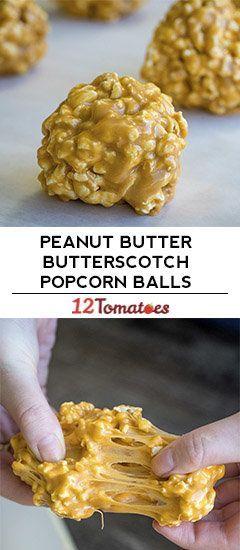 Peanut Butter Butterscotch Popcorn Balls