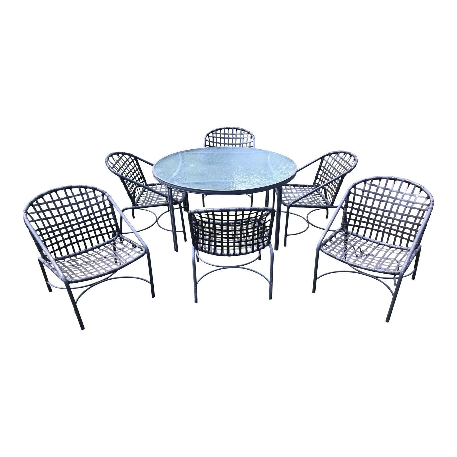 Vintage Brown Jordan Kantan Dining Table And 6 Dining Chairs Image 1 Of 13 Outdoor Furniture Sets Outdoor Furniture Furniture
