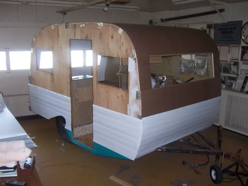 Teardrops N Tiny Travel Trailers View Topic Aluminum Siding Aluminum Siding Caravan Renovation Siding Repair