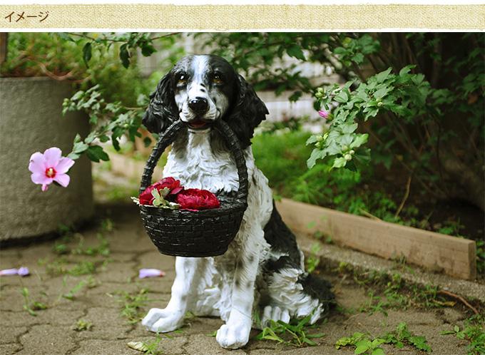 本物そっくり 中型犬コッカー オブジェ おつかい 犬 置物ワンちゃん リアルアニマル Dog 愛嬌 ドッグ こだわり 毛並み オーナメント ガーデニング カフェ インテリア 大きい ガーデン雑貨 ガーデン用品屋さん 犬 置物 中型犬 犬