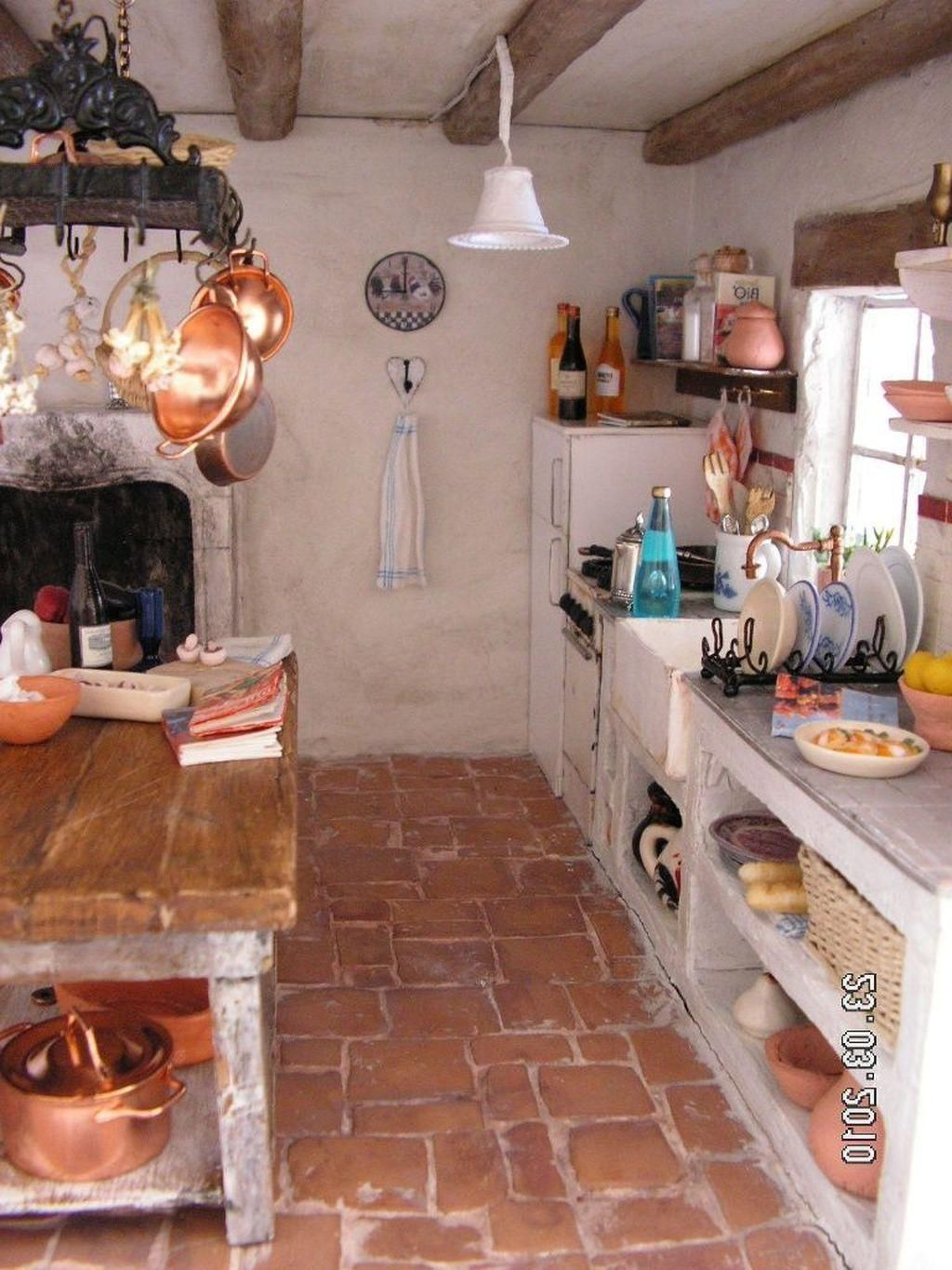 Cuisine Decoration idees   Rustic farmhouse style kitchen
