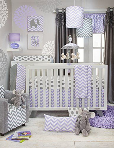 Robot Check Chevron Baby Bedding Baby Girl Room Girl Nursery Room