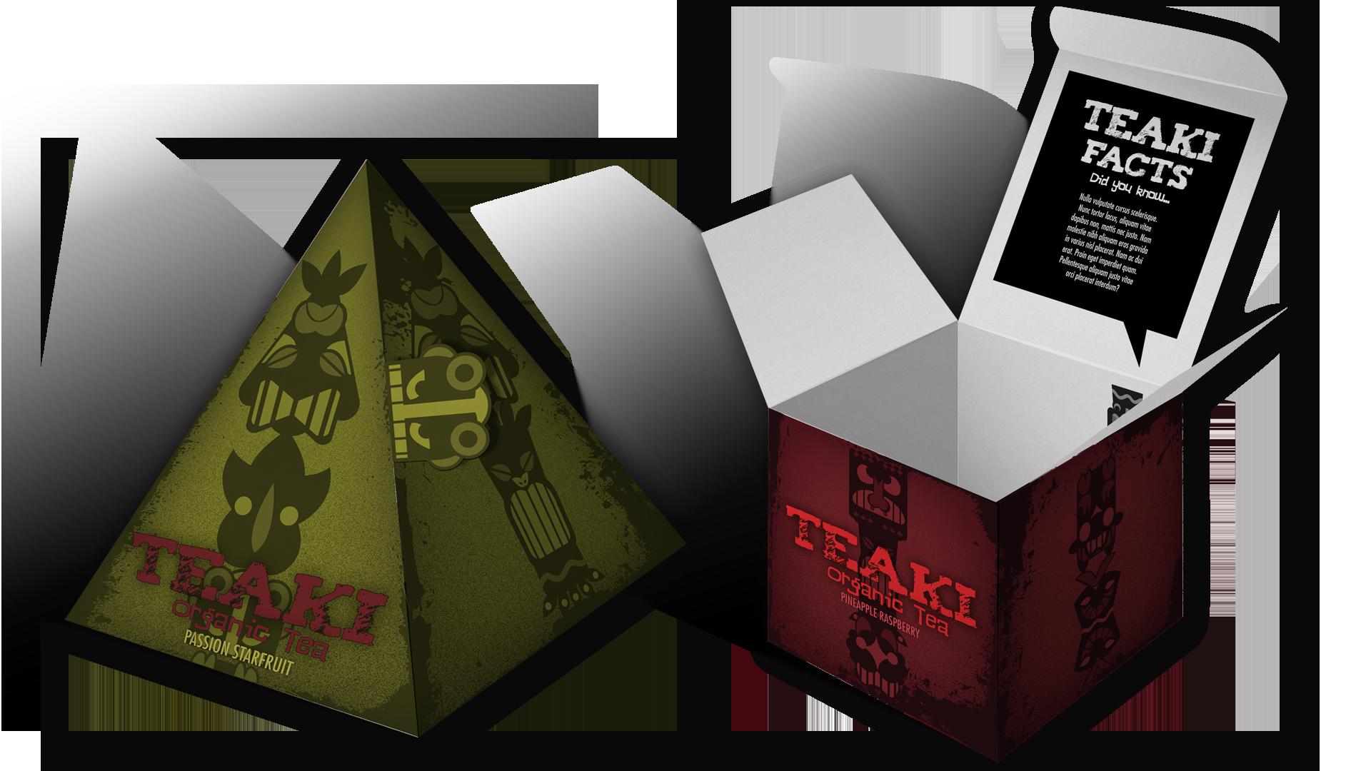 Teaki Pyramid Box Mock Up