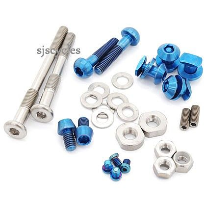 Ti Parts Workshop Titanium Front Wheel Nuts for Brompton Bicycle