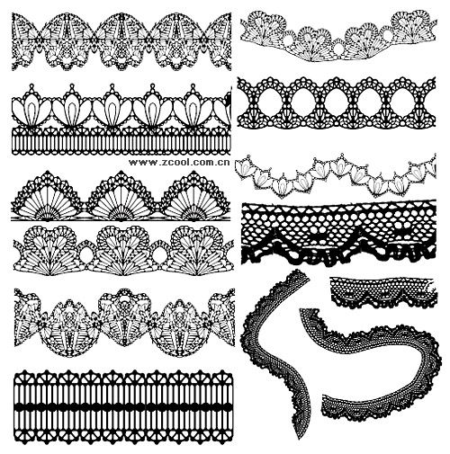 Lacy Lace Pattern Vector Graphic Lace Tattoo Design Lace Garter Tattoos Lace Bow Tattoos