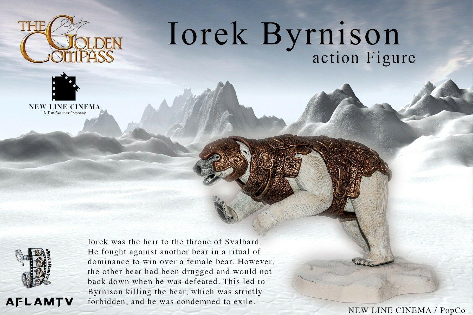 The Golden Compass IOREK BYRNISON Battling Ice Bear ACTION FIGURE NUOVA