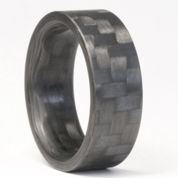 Twill Carbon Fiber Ring Mens Engagement By Elementrings