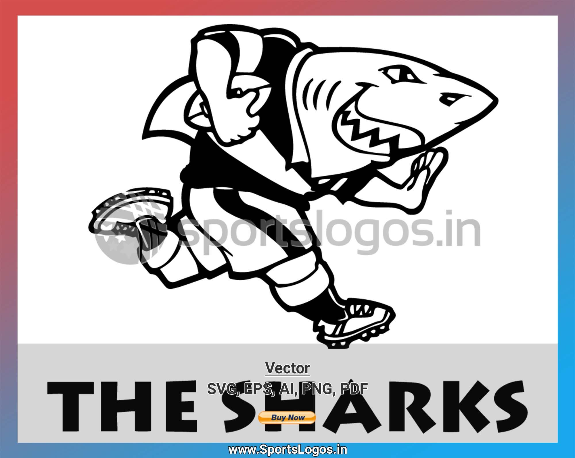 Sharks Misc Sports Vector Svg Logo In 5 Formats Spln003977 Sports Logos Embroidery Vector For Nfl Nba Nhl Mlb Milb And More Shark Logo Rugby Logo Embroidery Logo