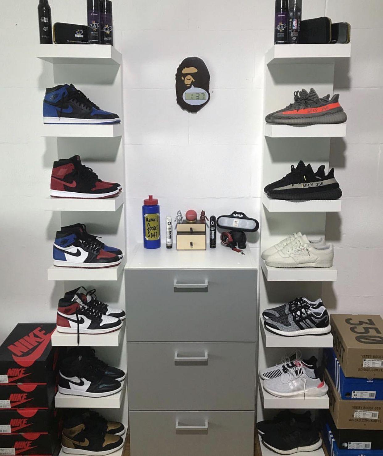 hypebeast room shoe storage wardrobe