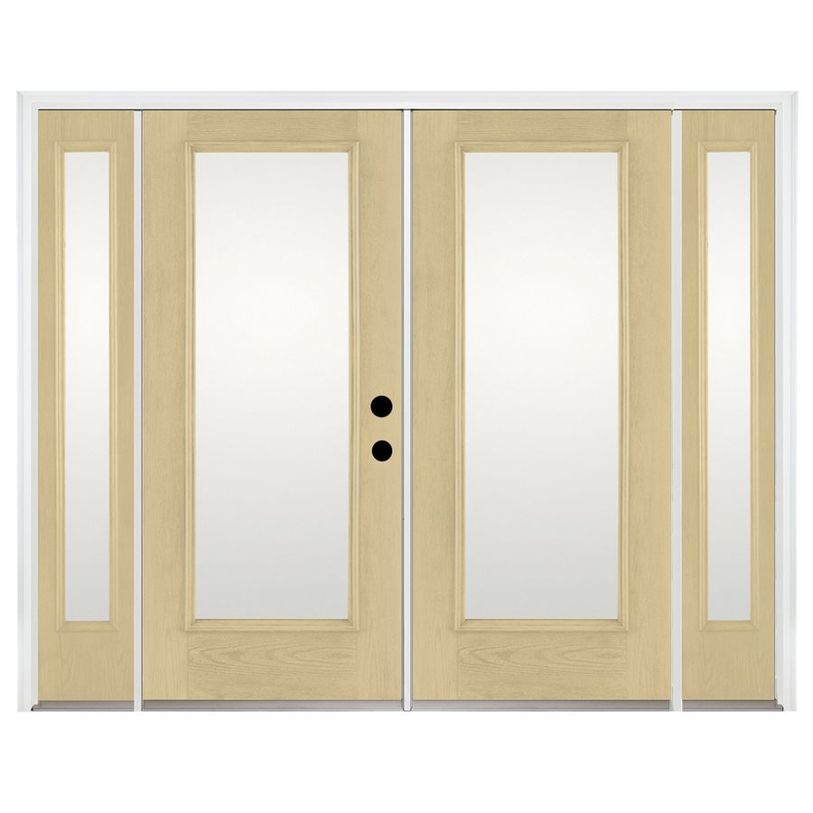 Benchmark by therma tru 939375 in 1 lite glass fiberglass french shop benchmark by therma tru 939375 in x 795 in left hand inswing fiberglass french patio door at lowes planetlyrics Image collections