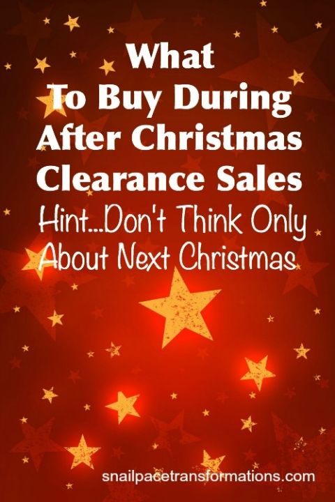 What To Buy During After Christmas Clearance Sales | Christmas ...