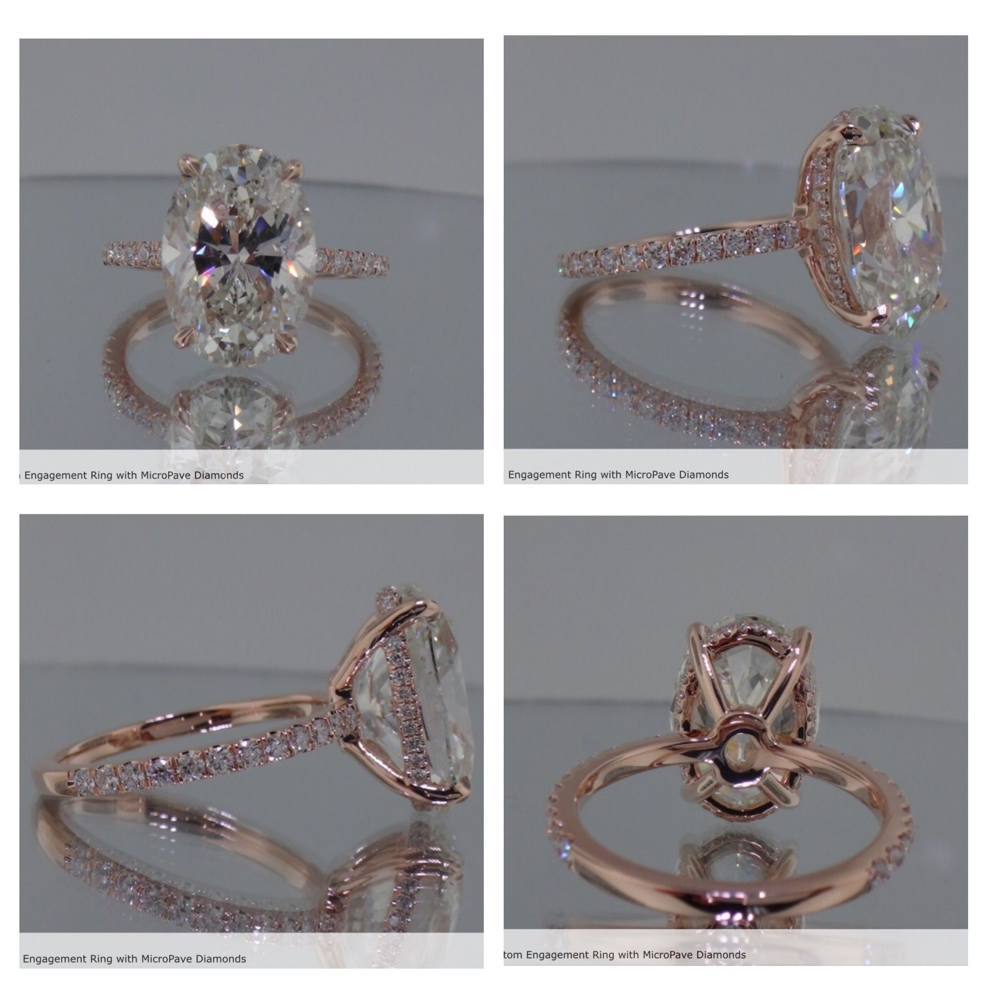 Oval Shaped Diamond In A Rose Gold Setting Just Like Blake Lively's Ring