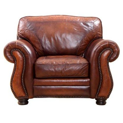 Merveilleux Artistic Leathers Signature Collection Extra Wide Leather Chair With  Nailhead Trim