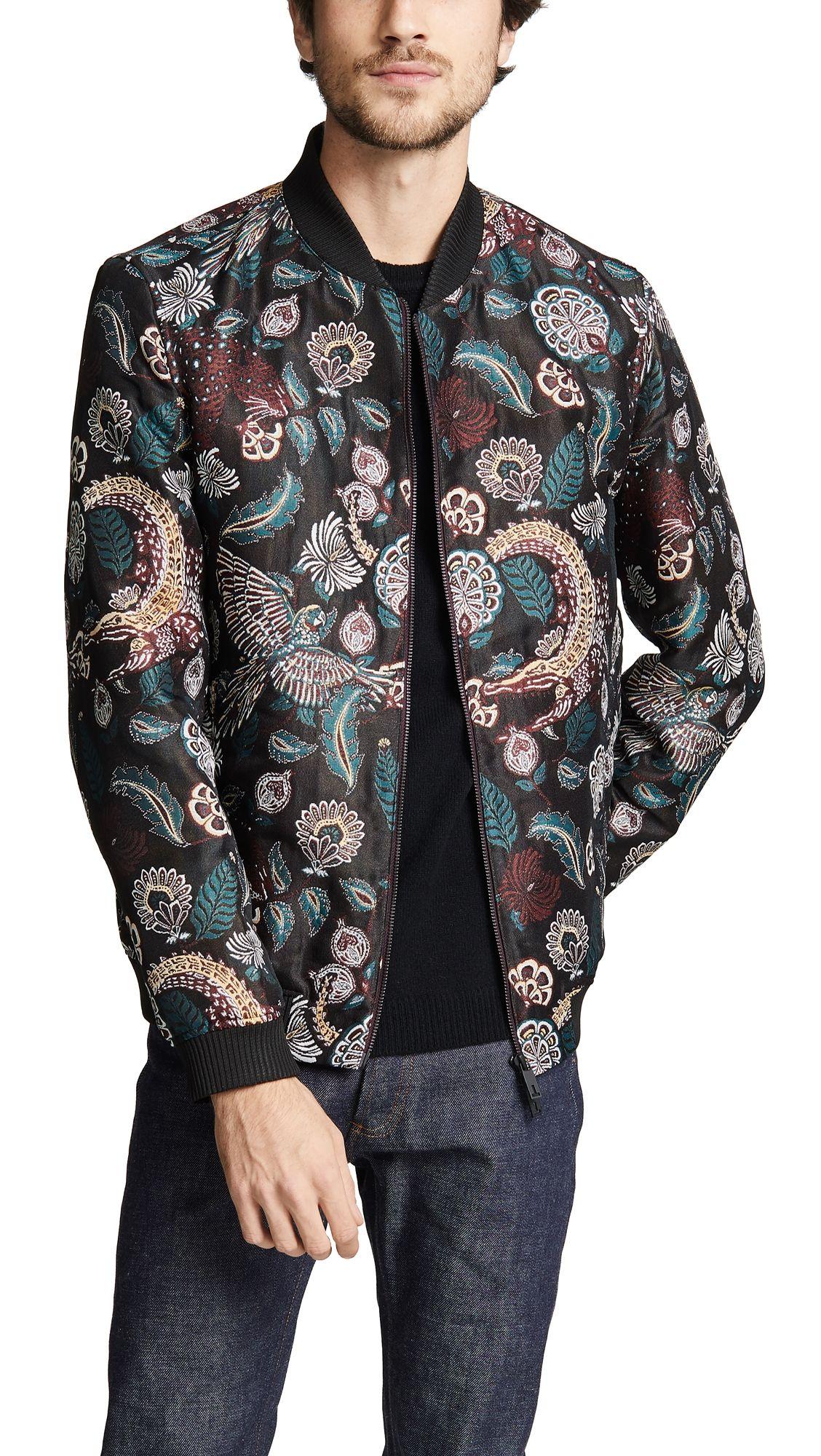 Ted Baker Tiger Floral Jazquard Bomber Tedbaker Cloth [ 2000 x 1128 Pixel ]