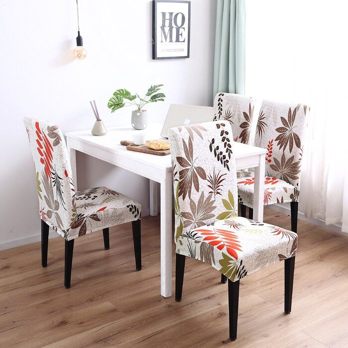 MAKE YOUR CHAIR LOOK BRAND NEW This Elegant Box Cushion Dining Chair Slipcover will make your room more tidy and beautiful. Comfortable fabric, resilient and flexible, fits most dining chairs. Exquisite design, highlight your delicate life. Perfect for protecting and decorating your dining chair.  #home decor #dining room #chair cover