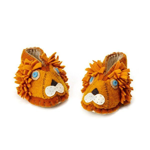 Lion Zooties Baby Booties - The Greenbrier Valley Mercantile