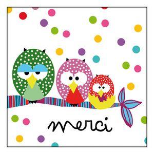 cartes merci | Owl wallpaper, Thank you cards, Cards