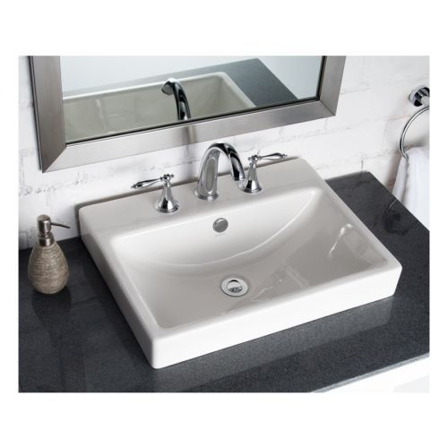 Details About Classic White Dropin Rectangular Bathroom Top Adorable Sink Bowl Bathroom Inspiration