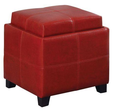 Superb Worldwide Homefurnishings Inc Anika Ii Storage Ottoman Red Evergreenethics Interior Chair Design Evergreenethicsorg
