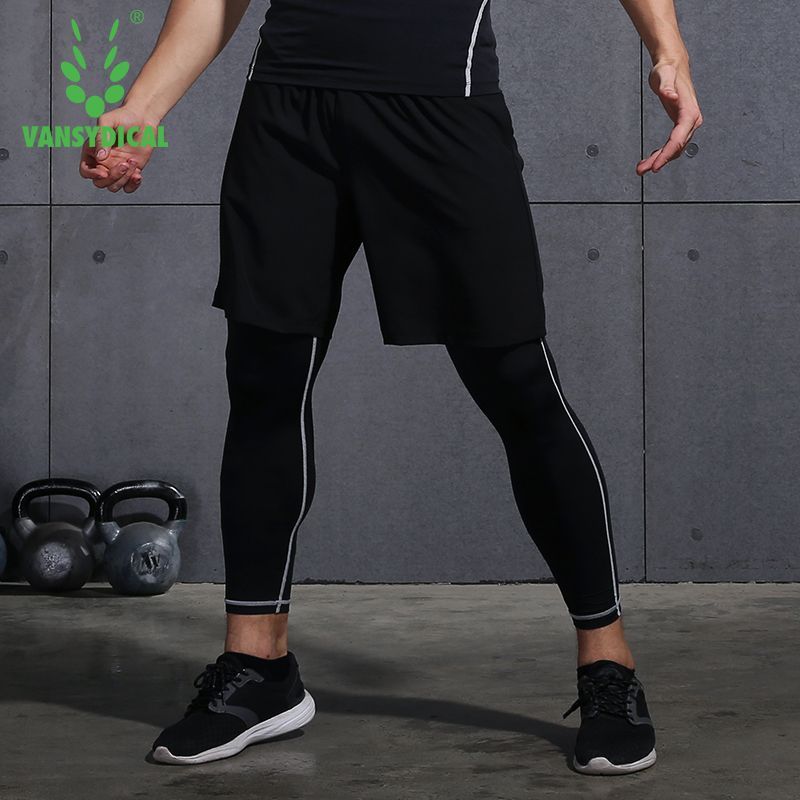 HOT Men/'s Sports Stretch Skin Tights Compression Base Running Fitness Gym Shorts