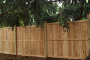 Traditional 6 White Cedar Privacy Panel Fence Privacy Fence Landscaping Wood Fence Fence Landscaping