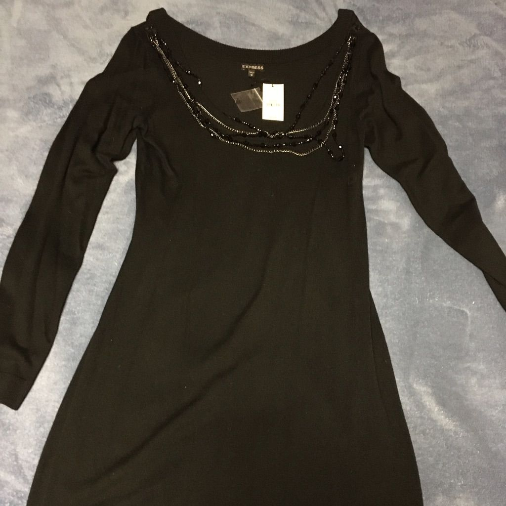 Gorgeous long sleeve little black dress products