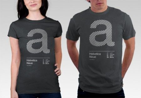 Helvetica Shirts and Creative T-Shirts | Typographic Apparel ...