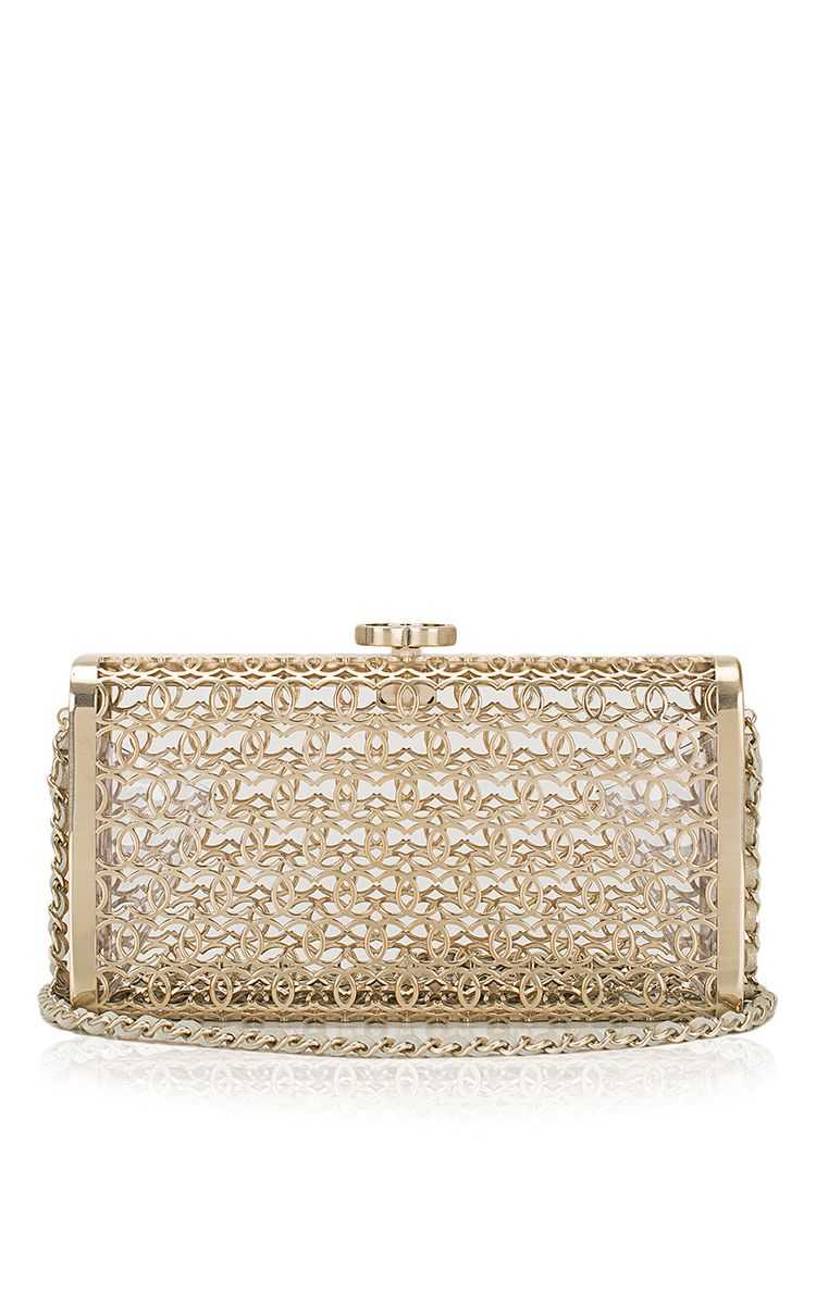 c33f969bd6a1 Chanel Gold Minaudiere Metal CC Cage Evening Bag - Preorder now on Moda  Operandi