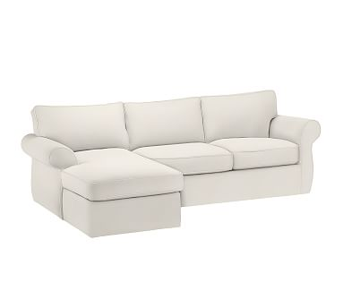 Pearce Roll Arm Slipcovered Left Arm 2 Piece Sofa With