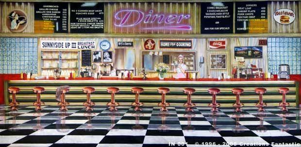 Backdrop In 001 Diner Interior 1 Backdrops 50s Diner
