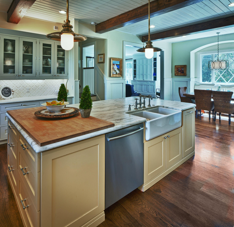 Farmhouse Kitchen Designed By Monarch Kitchen Bath Island