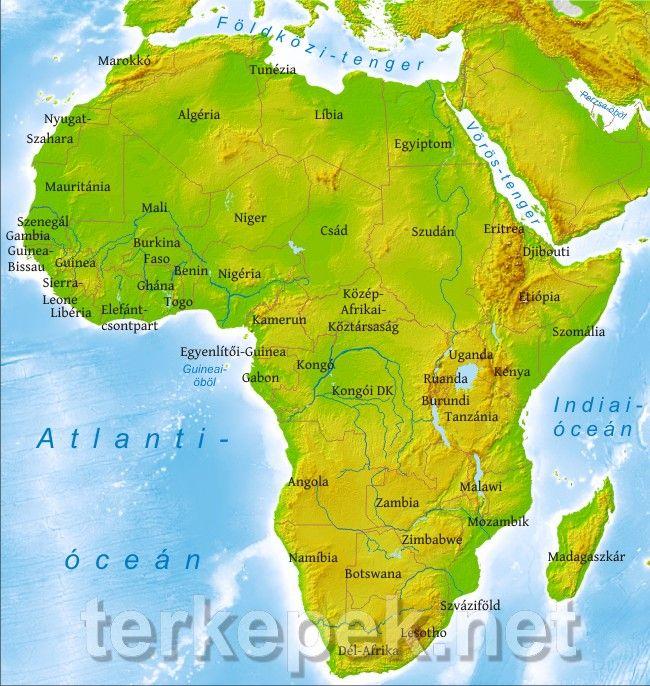 Afrika Terkep Terkep Afrika Tunezia