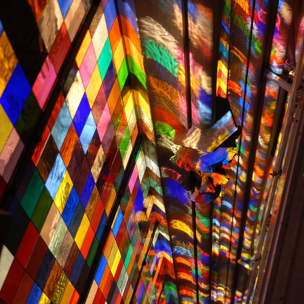Gerhard Richter Kolner Domfenster Cologne Cathedral Window 2007 11 000 Hand Blown G Stained Glass Windows Church Gerhard Richter Abstract Gerhard Richter