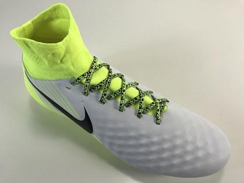 606dc5b22c15 SR4U Neon Yellow/Black Premium Soccer Laces on Nike Magista Orden 2 Motion  Blur Pack