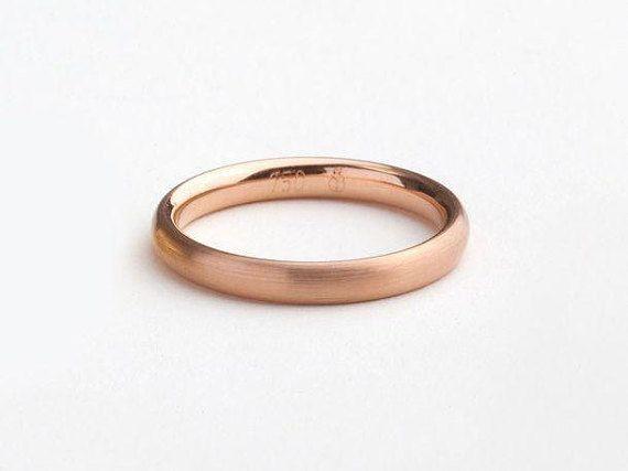 Men S 18k Rose Gold Band Man Gold Wedding Band Classic Rose Gold Ring Men S Wedding Simple Ring Round Wedding Minimal Ring Mens Rose Gold Wedding Ring Mens