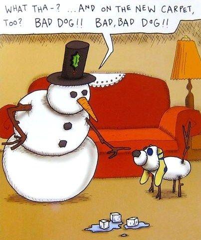 Snow puppy not trained winter funny snowman giggles - Schneebilder lustig ...