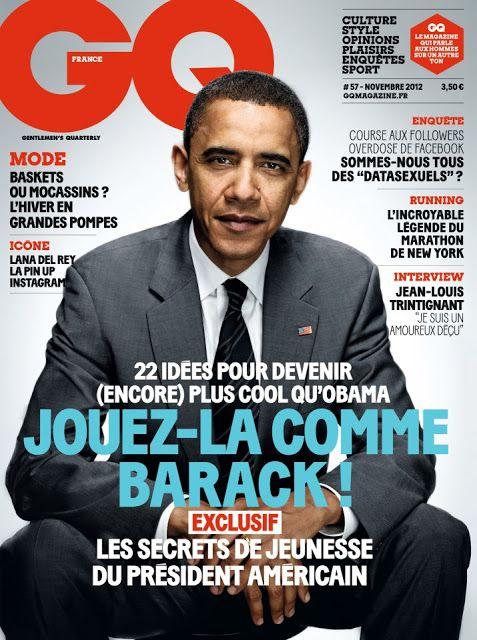 Barack Obama covers #GQ #France - November 2012