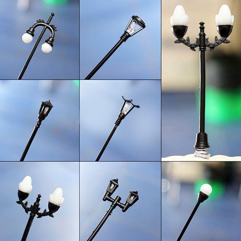 Decor Figurines Miniature Mini Street Light Lamp Resin Crafts Fairy Garden