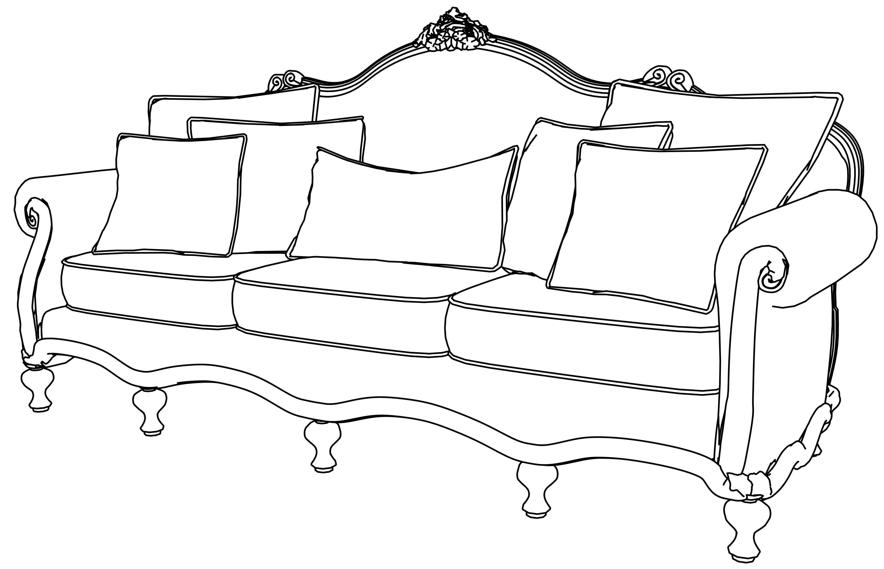 awesome Sofa Gallery Coloring Page  Antique sofa, Sofa furniture