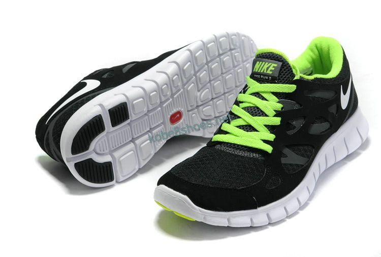 b16690a1e334 Cheap Nike Free Run 2 Mens Mens Anthracite Black Volt Green 443815 ...