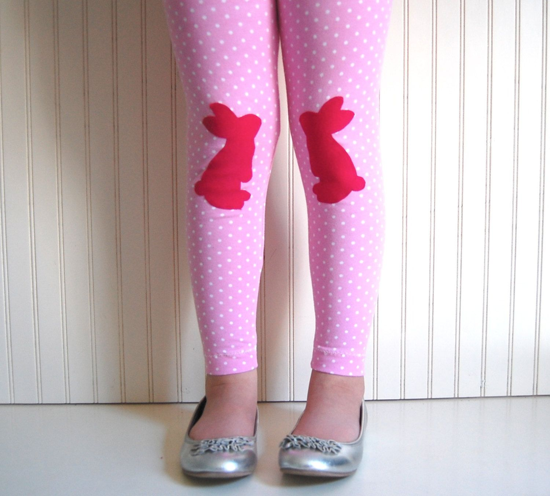 e0ea0cedea190 Easter Bunny Leggings - Girls Sizes 12-18 mos, 2 / 3T, 4 / 5, 6 / 7, 8 - by  The Trendy Tot. $27.00, via Etsy.