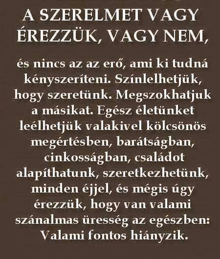 elgondolkodtató szerelmes idézetek a szerelmet vagy érezzük, vagy nem   Affirmation quotes, Hungarian