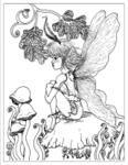 fairy coloring page #free #printable #diy #craft