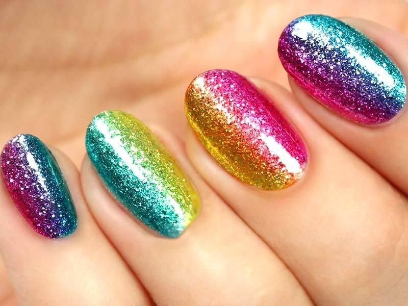 Unique And Flawless Rainbow Nails Ideas   Rainbow nails ...