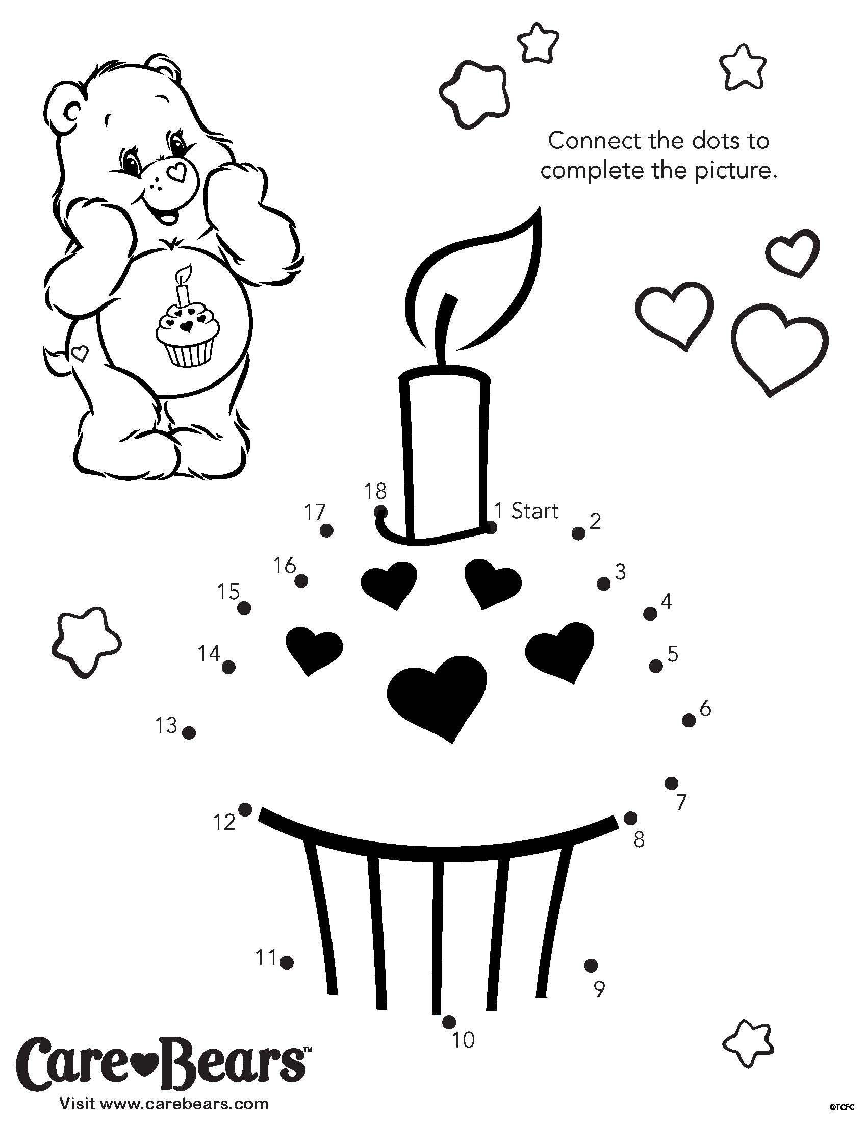 Birthday Bear Activity Sheet From Agkidzone
