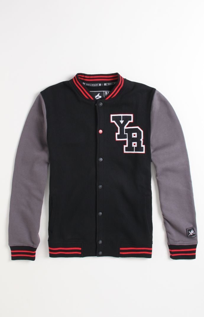 Young   Reckless Black Varsity Jacket  8374982a5