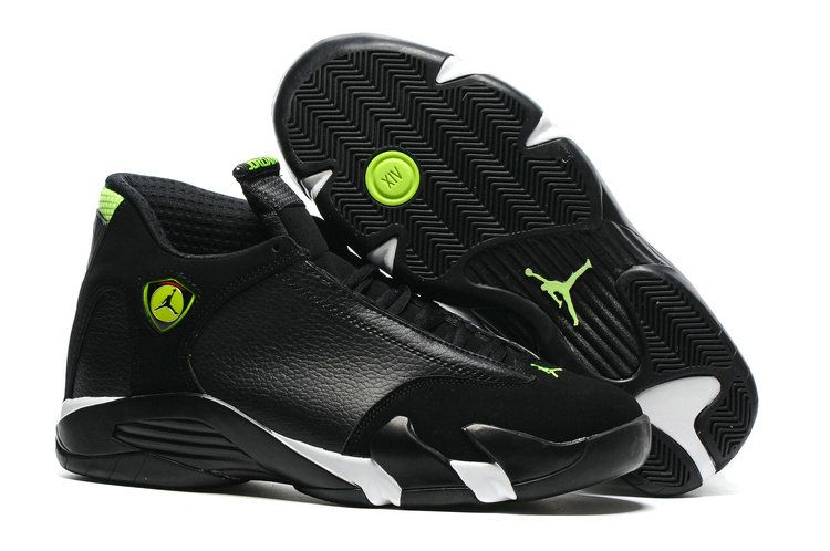 481d6a57ad4cf6 Authentic Cheap Air Jordan 14 Shop with Confidence Nike Authentic Cheap Air  Jordan 14 Basketball Shoe Black All Green for Men
