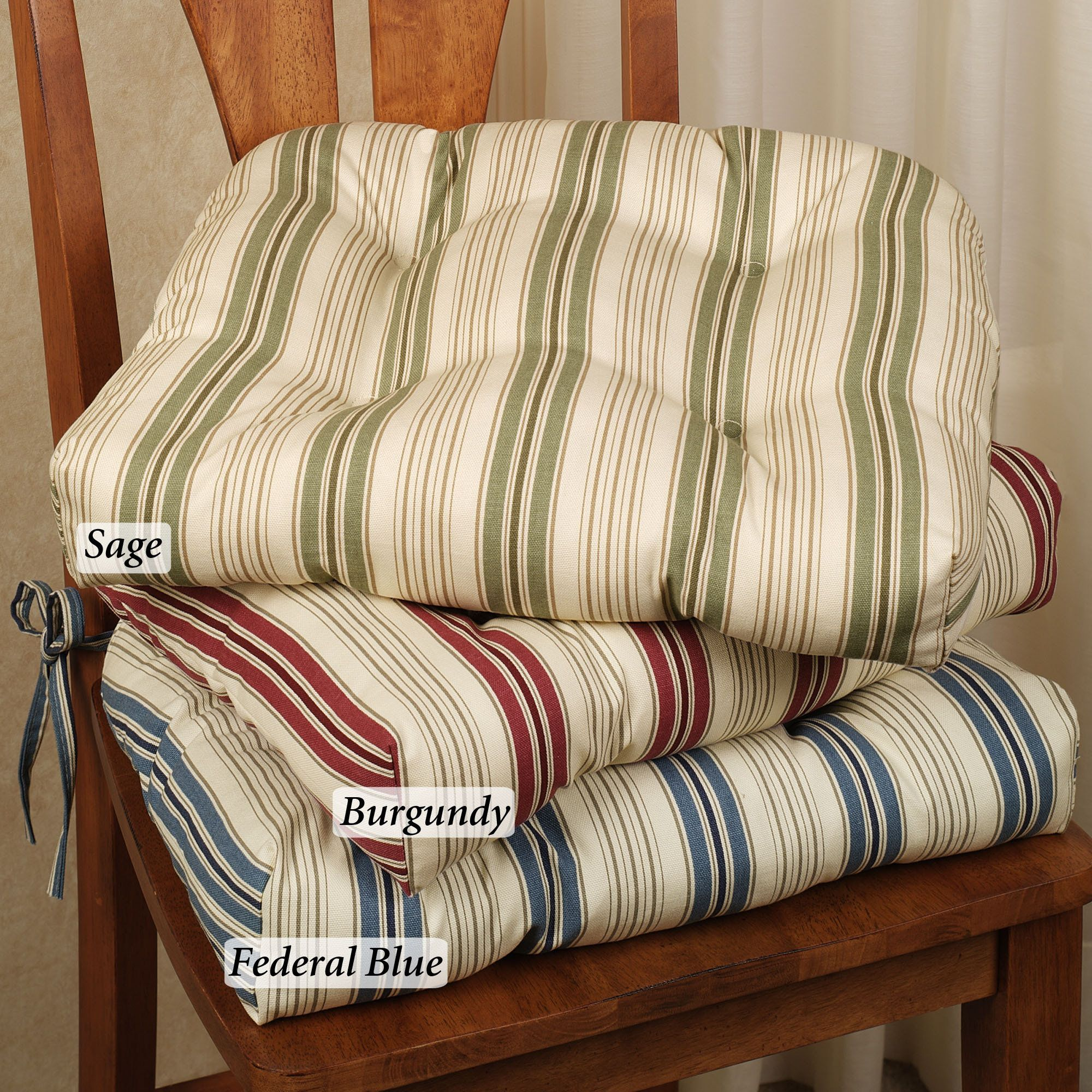 Image of Kitchen Chair Cushions with Ties | Kitchen Design Ideas ...